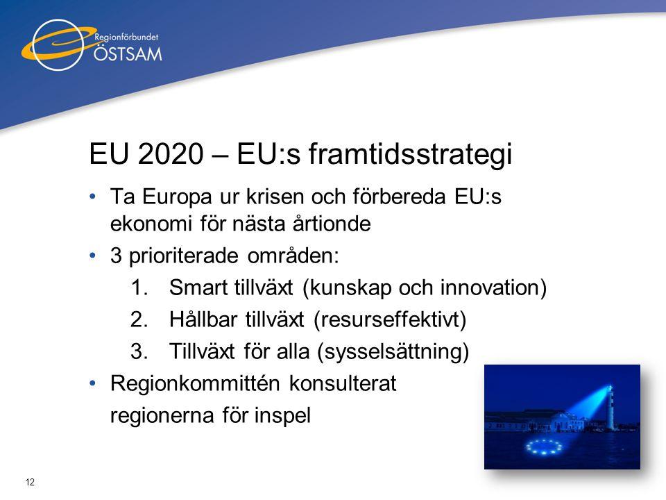 13 Sammanhållningspolitiken post 2013 •EU:s regionalpolitik •Syftar till att minska skillnaderna mellan länderna •Ny period 2013 – 2020 •Centraliserat system eller decentraliserat.