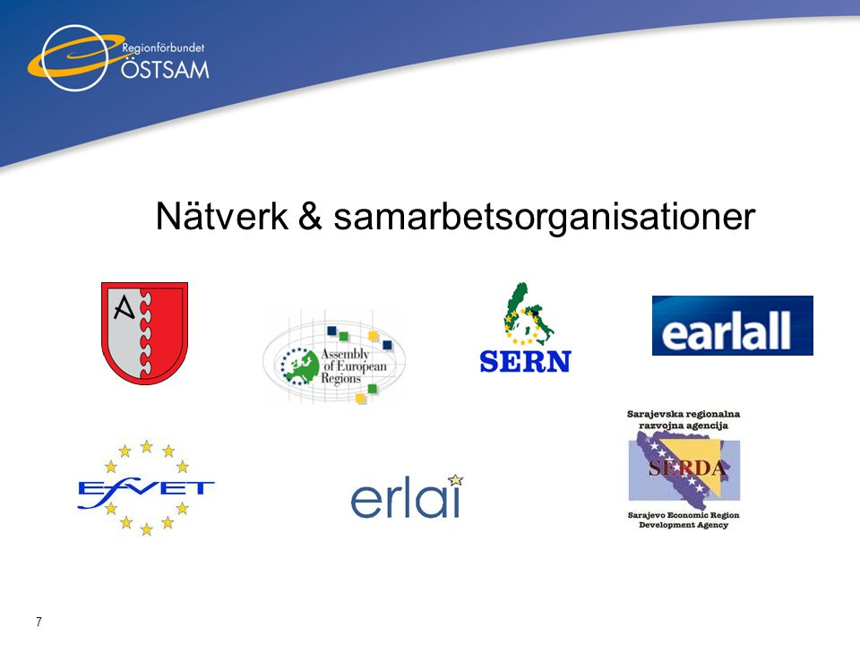 8 Assembly of European Regions (AER) •Deltagande i AER:s sommarskola •Marknadsföring av Regionförbundets arbete med kreativa sektorn i samband med seminarier och konferenser •Enkätsvar (landsbygd, miljö, ekonomisk utv) •Deltagande i konferenser (eHealth, utbildning, kultur)