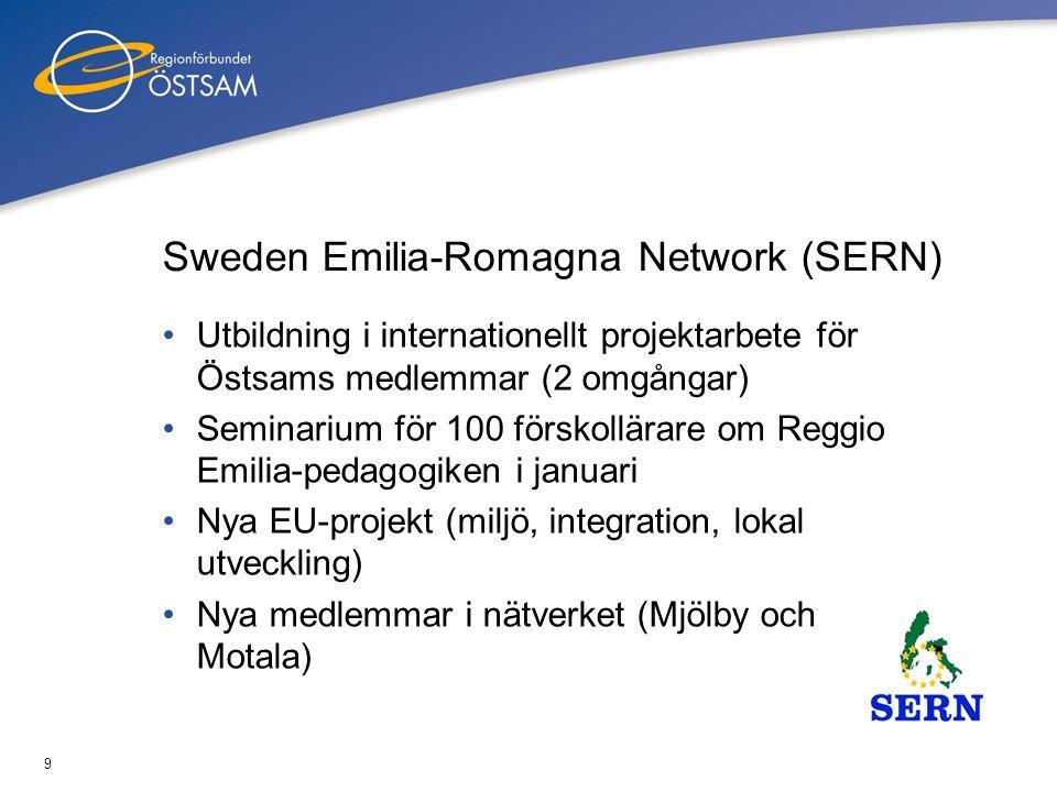 10 Sarajevo-samarbetet (SERDA) •Nytt samarbetsprojekt finansierat av Internationellt Centrum för Lokal Demokrati (ICLD) •Fokus på politikens roll i det regionala utvecklingsarbetet – nytt!.