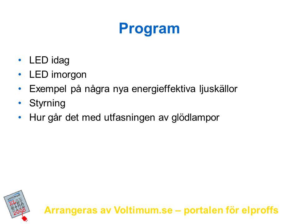 Arrangeras av Voltimum.se – portalen för elproffs Rubrik