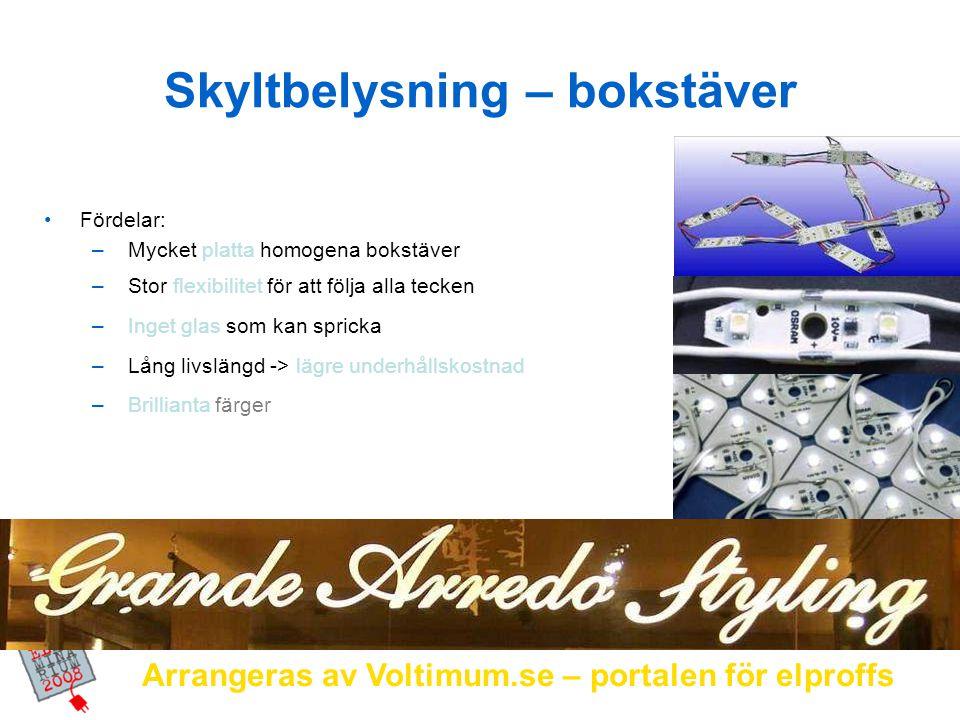Arrangeras av Voltimum.se – portalen för elproffs Moduler + Transformator + Monteringsfästen