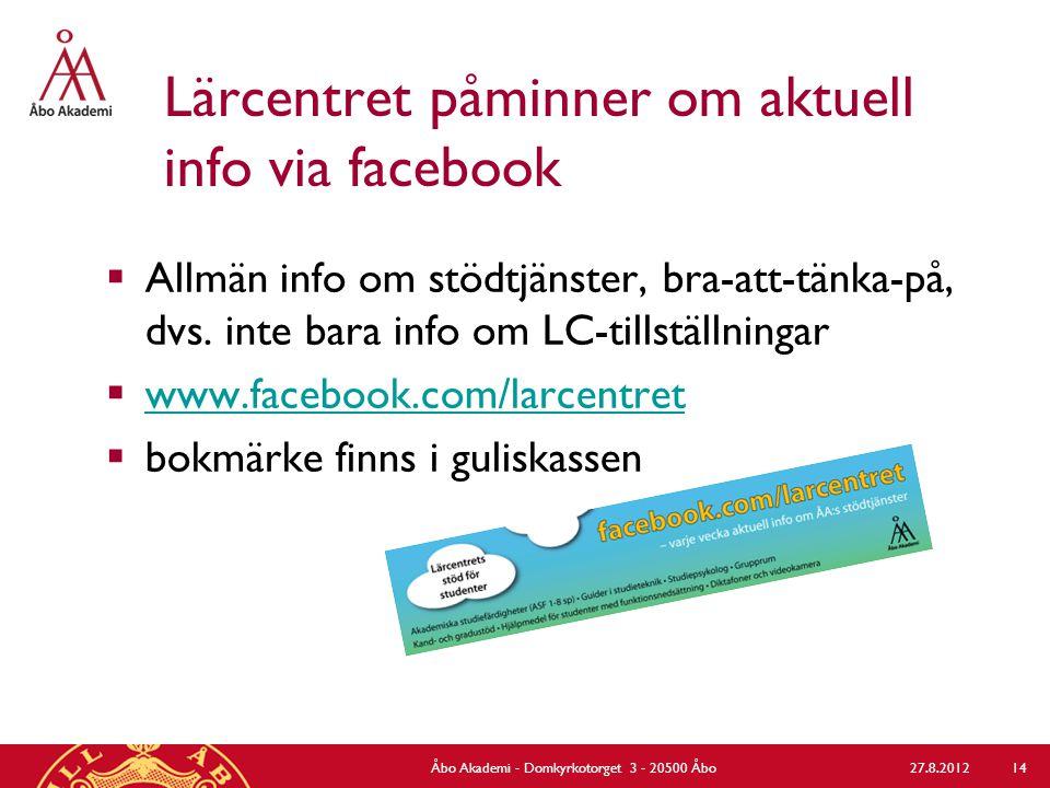 Information om och materialet från studieorienteringen  www.abo.fi/student/studieorientering www.abo.fi/student/studieorientering  Studieorienteringen för utbytesstudenter v.
