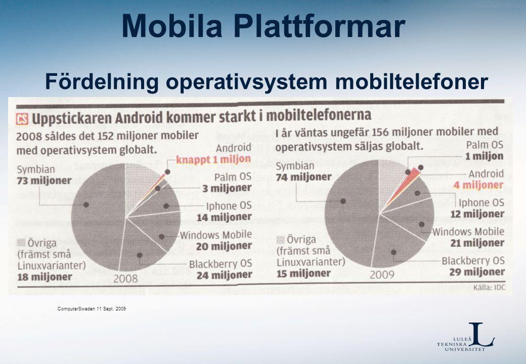 Mobila Plattformar Symbian  Series 60  http://www.symbian.org/