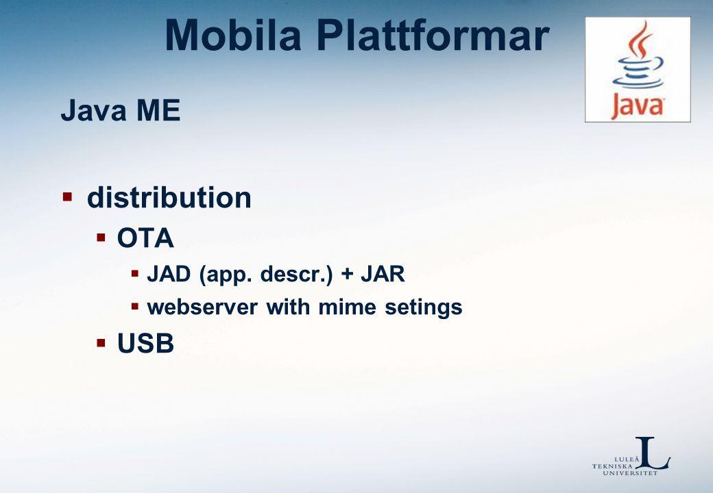 Mobila Plattformar Övriga OS  Linux.