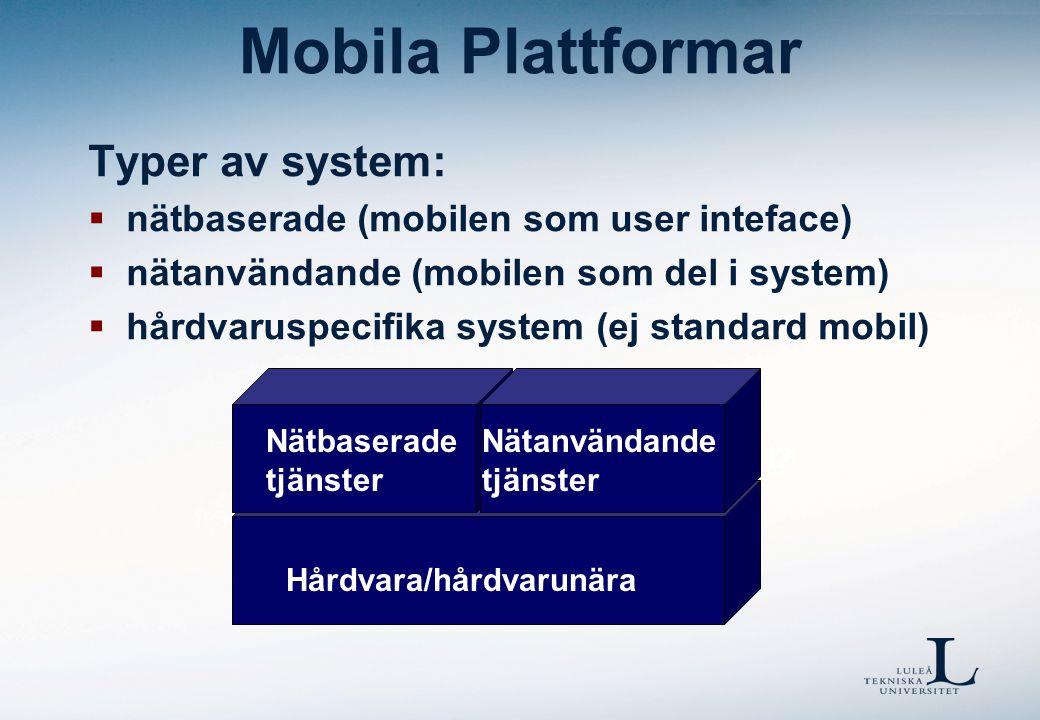 Mobila Plattformar Nätbaserade tjänster Varför välja ett operativsystem.