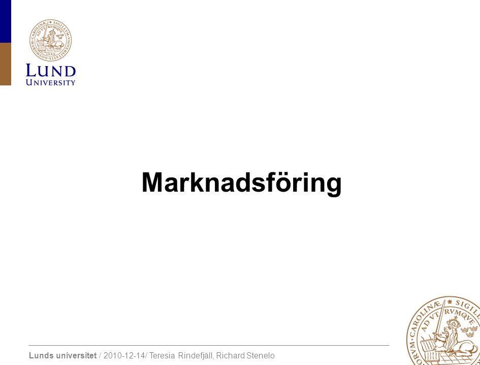 Lunds universitet / 2010-12-14/ Teresia Rindefjäll, Richard Stenelo Marknadsföring – uppdatering Student competition (Entreprenörskap) http://www.masteryouridea.com/ http://www.masteryouridea.com/
