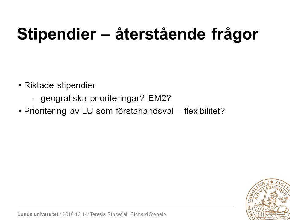 Lunds universitet / 2010-12-14/ Teresia Rindefjäll, Richard Stenelo Service