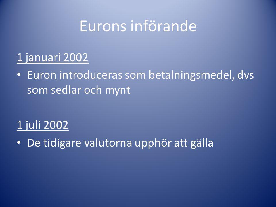 När kronan (SEK) är stark är det billigt att köpa utländsk valuta När kronan (SEK) är svag är det dyrt att köpa utländsk valuta