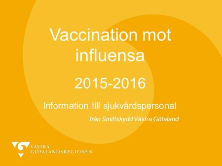 Vaccination mot influensa
