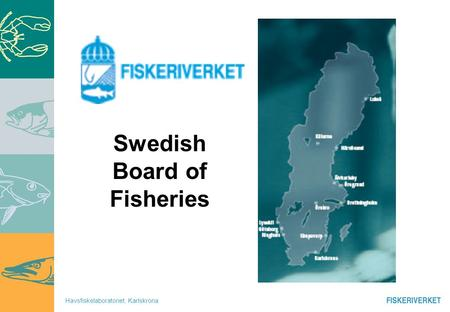 Havsfiskelaboratoriet, Karlskrona Swedish Board of Fisheries.