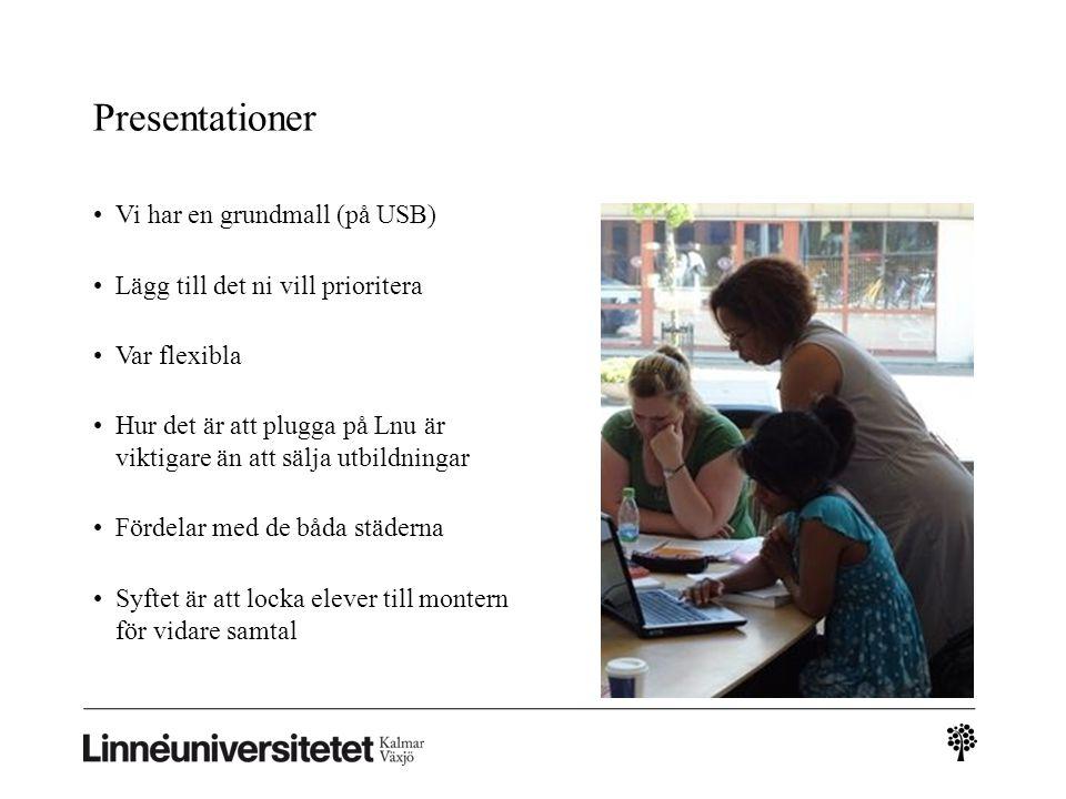 Datum 17 decVal av städer 25 janDatum för resor 27 janUtbildningsdag 2 i Växjö 28 aprilSlutrapportering
