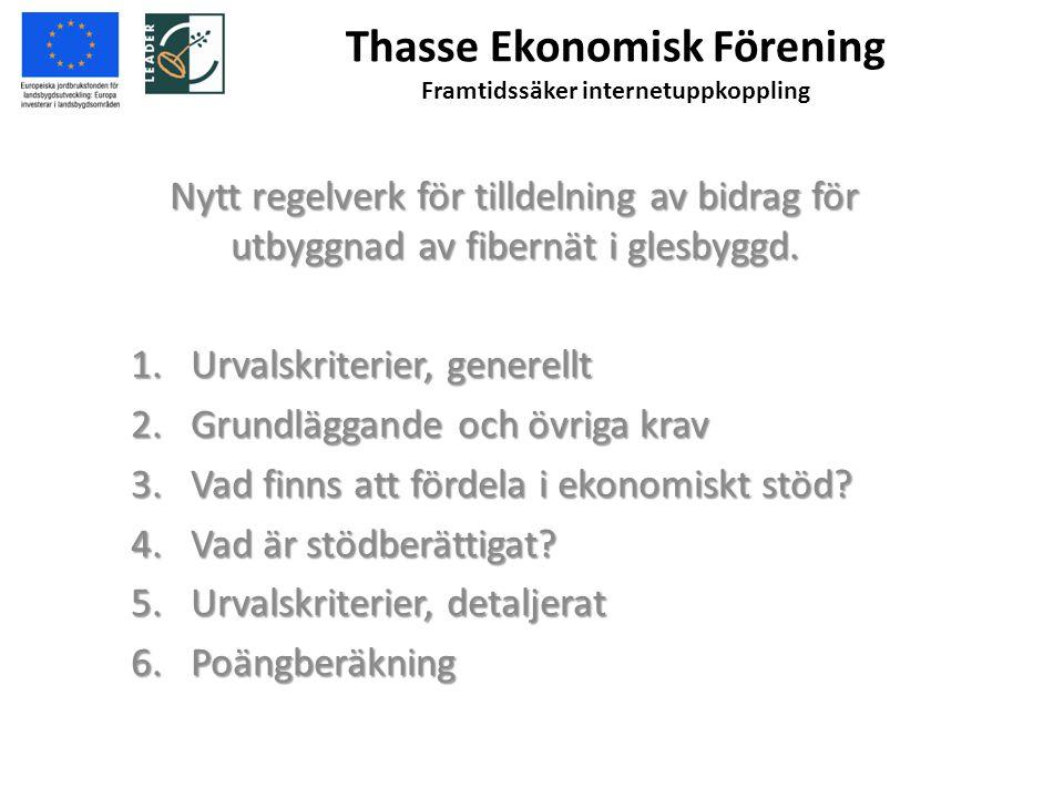 Thasse Ekonomisk Förening Framtidssäker internetuppkoppling 1.