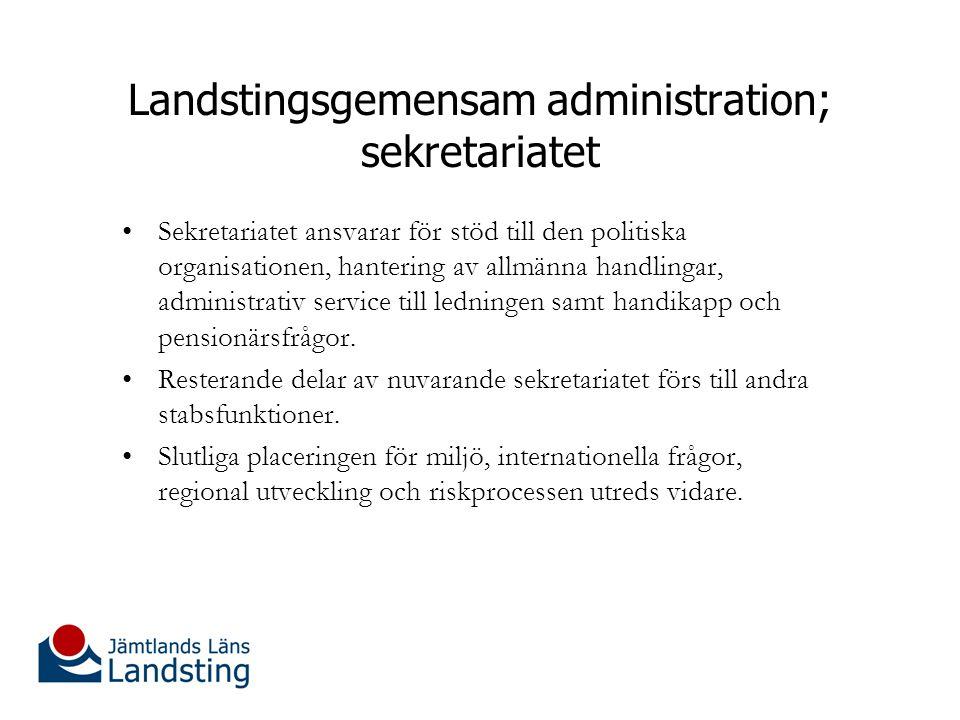 Landstingsgemensam administration; utvecklingsfunktionen Utvecklingsfunktionen bildas och delas in i fyra delar: Utvecklingsgrupp med ansvar för stöd och riktlinjer kring patientsäkerhet, prioriteringar, tillgänglighet, vård och omvårdnad, effektivisering m.m.