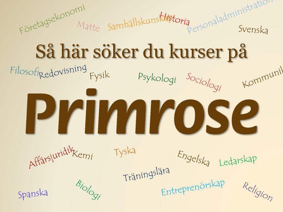 I den här guiden går vi igenom hur du söker kurser här på Primrose.