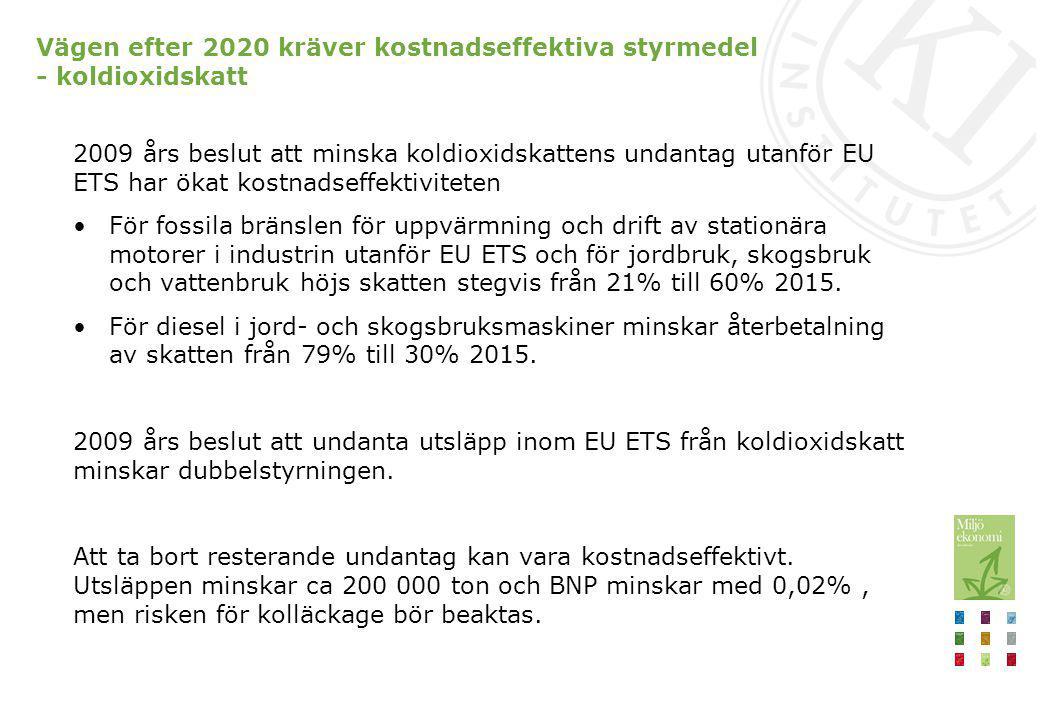 Transportsektorn Inrikes transporter står för drygt en tredjedel av Sveriges utsläpp Mål om fossiloberoende fordonsflotta till 2030 Minst 80 procent lägre användning av fossil energi till vägtransporter 2030 jämfört med 2004 (Trafikverket) Utsläppen i transportsektorn förväntas inte minska 2010-2030 (Naturvårdsverket) Utredning med slutbetänkande 31 oktober 2013