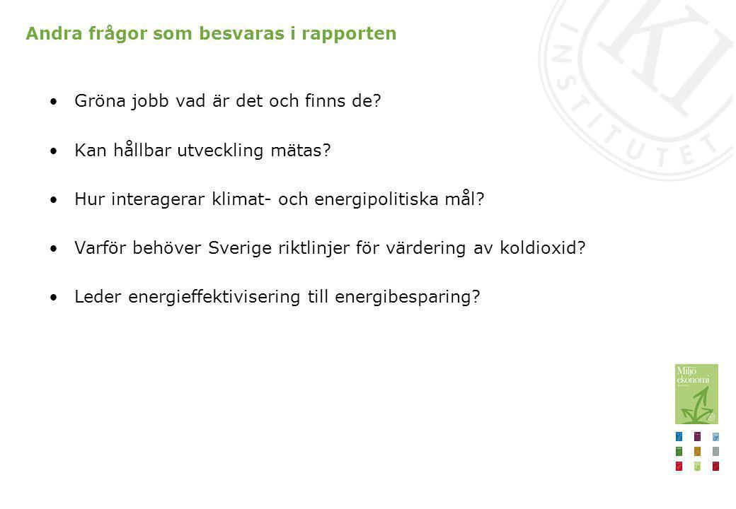MILJÖEKONOMI, 6 december 2012 Runar Brännlund, ordförande KI:s vetenskapliga råd