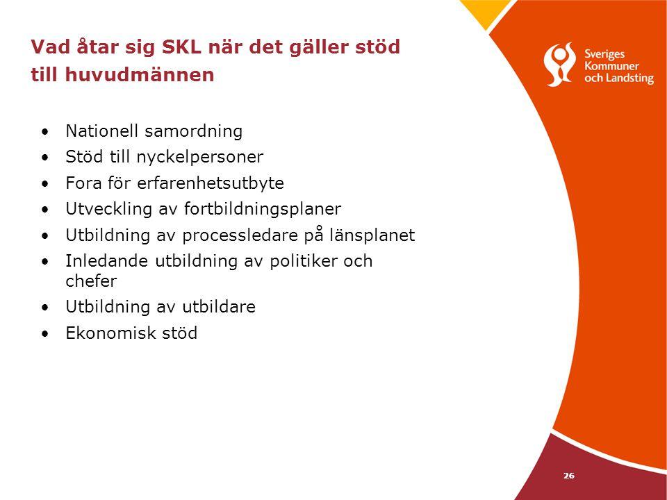 27 Vad åtar sig huvudmännen på länsplanet i överenskommelsen med SKL.