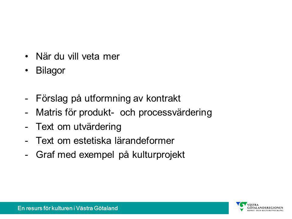 En resurs för kulturen i Västra Götaland