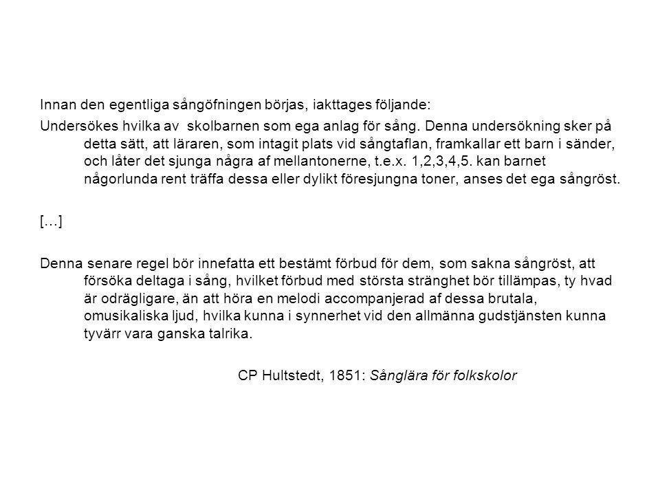 Pedagogisk progressivism Swedish style (ca 1940-1990) Individualisering Nytta Vetenskaplig grund Den moderna utvecklingspsykologin (Piaget) i.o.m.