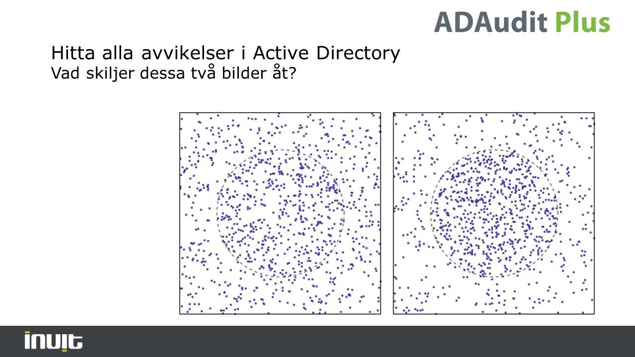 Hur övervakar vi förändringari ActiveDirectory, vad känner vi till.