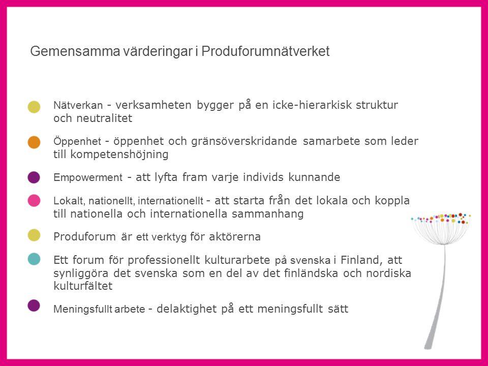 7 Aktörsmöte Produforums verksamhet sker via aktörsgrupper på flera orter.