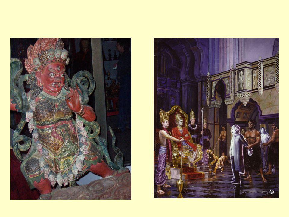 Buddhism  Många olika Narakas. Man föds in i en Naraka beroende på Karma.