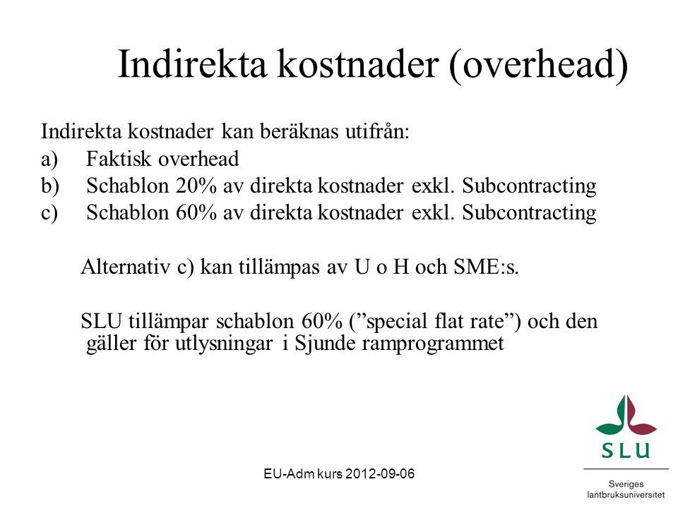 Certificate on Financial Statement - Revisionsintyg Obligatoriskt om begärd EU-finansiering är lägst 375 000 euro Ramavtal med E&Y EU-Adm kurs 2012-09-06