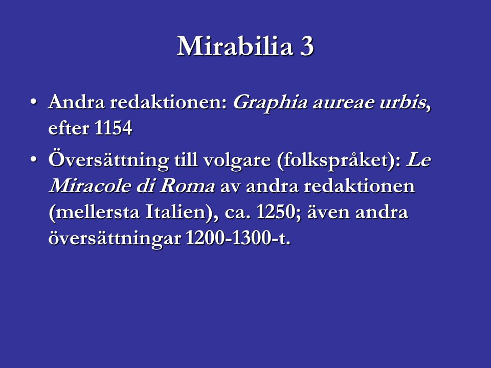 Andra Mirabilia Magister Gregorius, c.1200: De mirabilibus urbis RomaeMagister Gregorius, c.