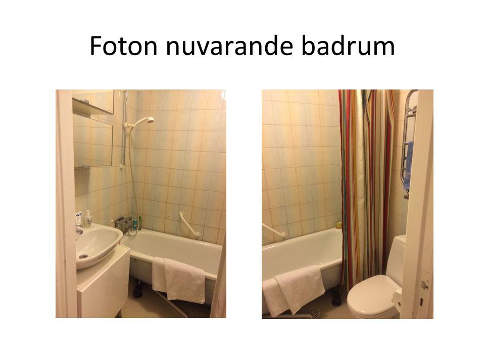 Skiss nuvarande badrum