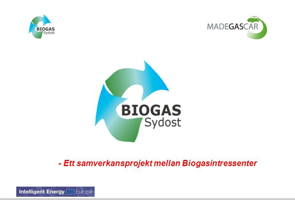 Syftet med Biogas Sydost Utveckla och stärka samarbetet mellan olika biogasintressenter.