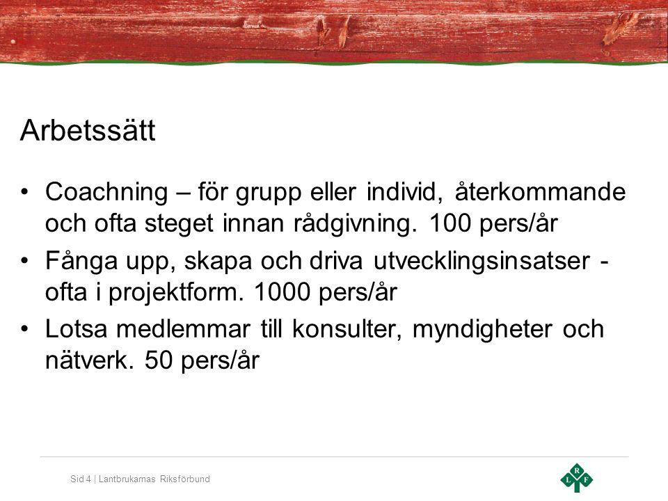 Sid 5 | Lantbrukarnas Riksförbund Generationsskiftesprogram; 6 träffar på 1 år med 14 personer från 4 företag.