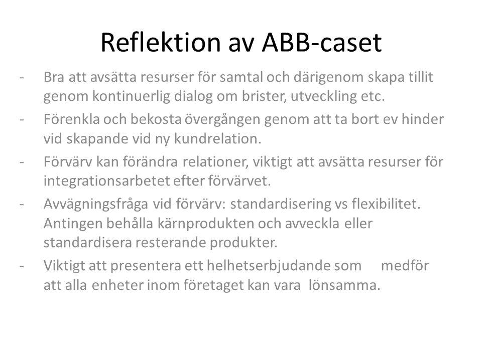 Reflektion kring case som undervisningsform Fördelar: Mer motiverande för studenter då case oftast är verklighetsbaserade.