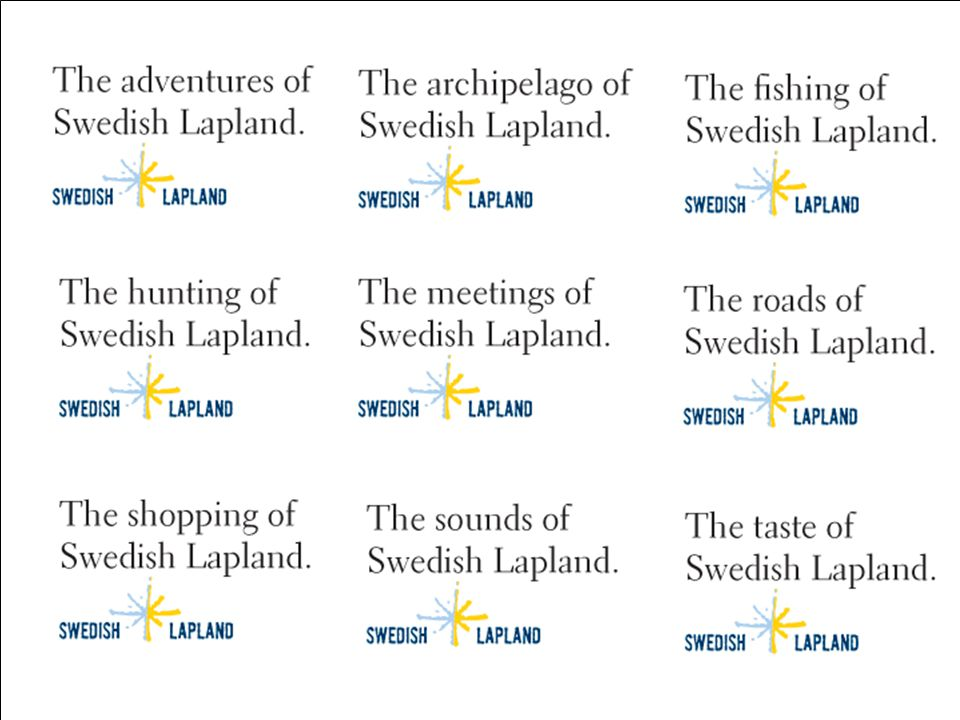 Klicka här för att ändra format Klicka här för att ändra format på bakgrundstexten Nivå två Nivå tre Nivå fyra Nivå fem 19 Landstinget 11 feb 2009 Genomförda aktiviteter, exempel SHIE/TRAVEL 2008 Taste of Swedish Lapland i Stockholm
