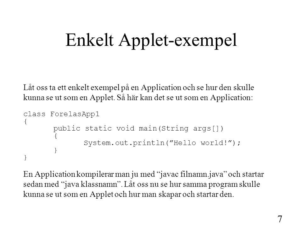 8 Applet-Exempel forts.