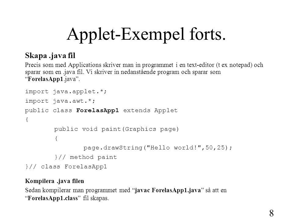 9 Applet-Exempel forts.