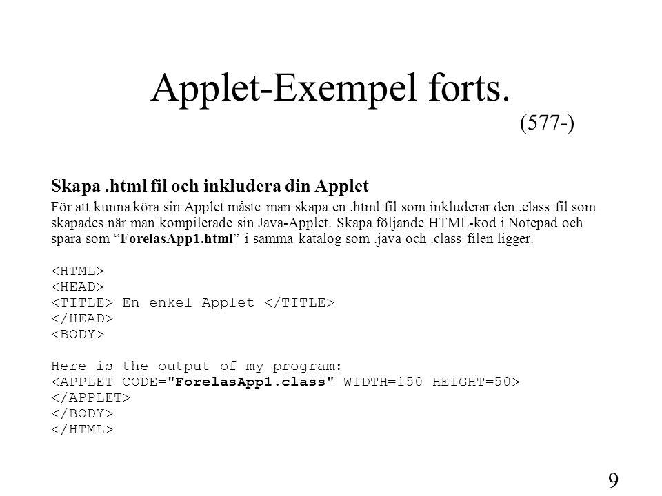 10 Applet-Exempel forts.