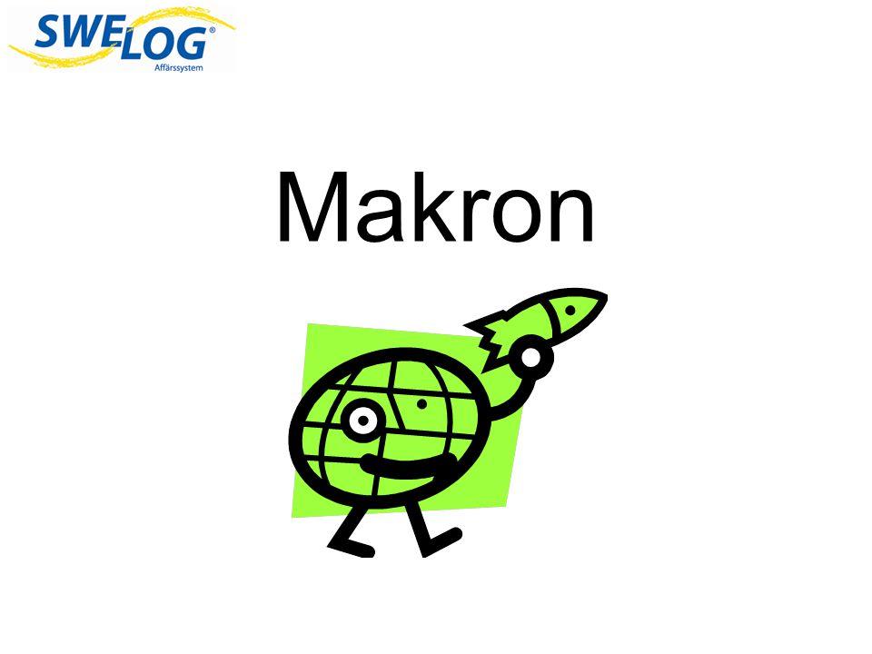 Vad är Makron.Ett makro är en samling kommandon som du kan köra med en enkel musklickning.