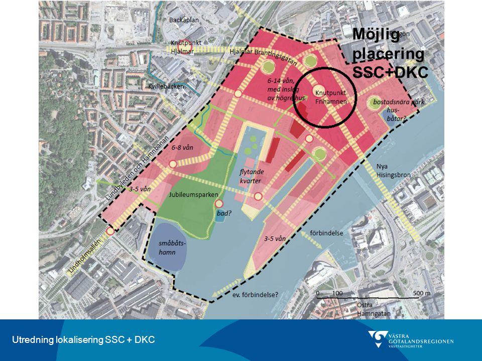 Utredning lokalisering SSC + DKC Frihamnen - Byggbarhet Ungefärlig kommande indelning av Etapp 1.