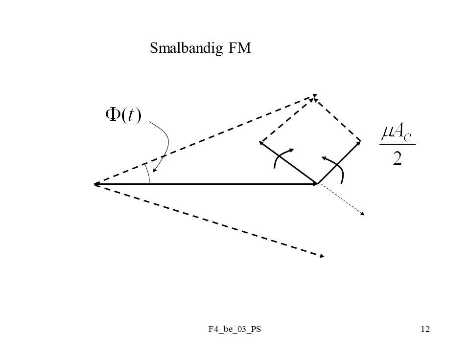 F4_be_03_PS13 Fasmodulering : m(t)= meddelande Ex: Jfr FM: PM :