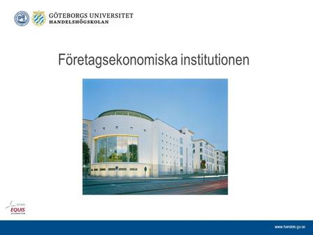 Företagsekonomiska institutionen.