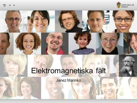 | Elektromagnetiska fält Janez Marinko. | Biologisk effekt vs. hälsoeffekt A biological effect occurs when exposure to electromagnetic waves causes some.