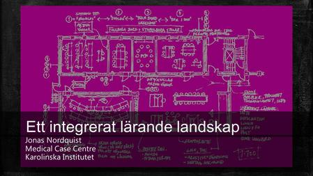 Ett integrerat lärande landskap Jonas Nordquist Medical Case Centre Karolinska Institutet.