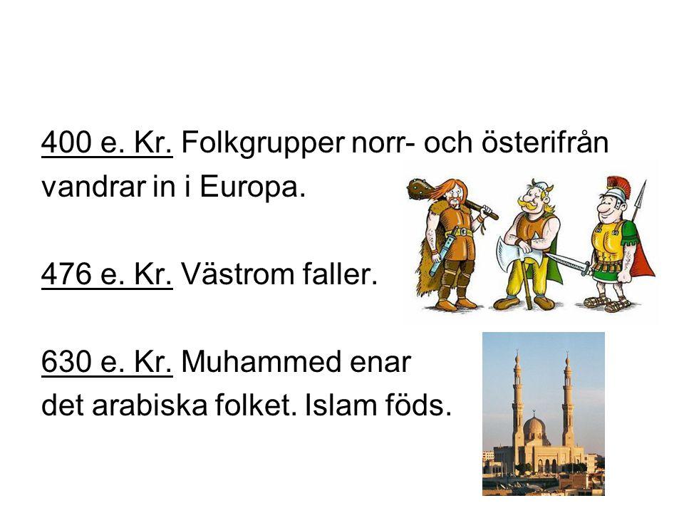 800 e.Kr. Frankerriket är ett mäktigt rike i Europa.