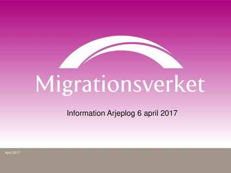 Information Arjeplog 6 april 2017
