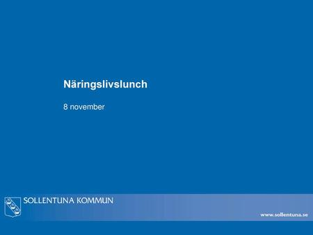 Näringslivslunch 8 november.