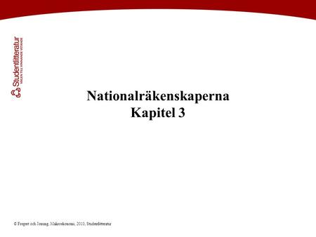 Nationalräkenskaperna Kapitel 3