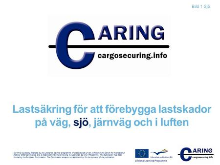CARING is partially financed by the Leonardo da Vinci programme of the European Union. In Finland the Centre for International Mobility CIMO administers.