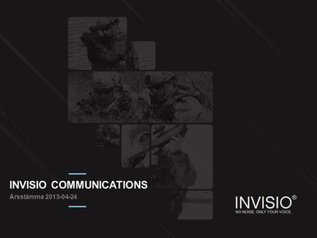 INVISIO COMMUNICATIONS