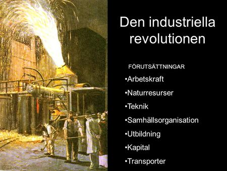 Den industriella revolutionen