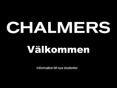 Information till nya studenter